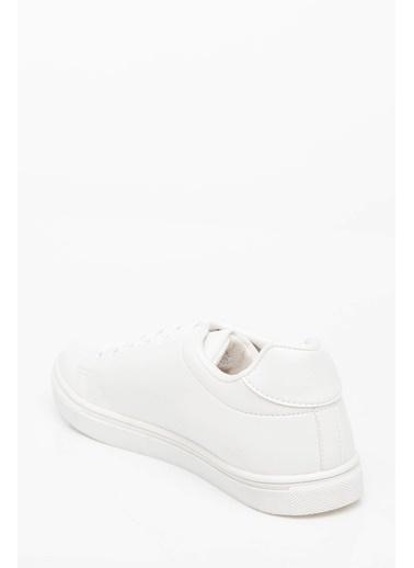 DeFacto Yazı Baskılı Sneaker Beyaz